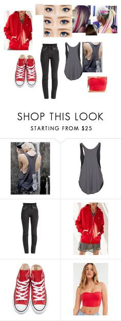 """""""Aihara Hitomi Casual 1"""" by solstice-dean-winters on Polyvore featuring Eos, Rip Curl, Vetements, Champion, Converse and Silence + Noise"""