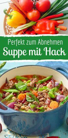 Gemüsesuppe mit Hackfleisch: Bunt und schnell!