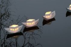 RITE de passage - paper lightboats make magical moments on your wedding ceremony, commemoration, birth ritual, garden party...