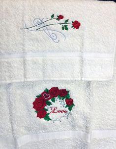 Asciugamano LOVE Embroidery Library designs