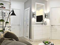 Entry, Living room & Kitchen. Прихожая, гостиная и кухня.