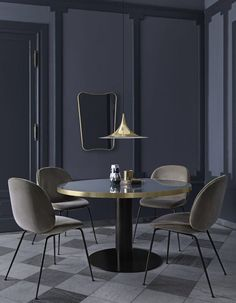 A small dining room can also be beautiful and luxurious if you choose the perfect dining table or just change your dining chairs. Today Modern Dining Tables will give you some tips for you to improve Small Dining, Round Dining Table, Dining Chairs, Dining Rooms, Round Tables, Room Chairs, Beetle Chair, Living Divani, Luxury Interior