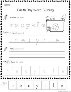 Earth Day Cut-and-Paste Word and Sentence Building Worksheets Word Sentences, Simple Sentences, Vocabulary Words, Sentence Building, Word Building, Canadian Social Studies, Touch And Feel Book, Ontario Curriculum, Social Studies Lesson Plans
