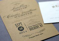 Burgues Rustic Wedding Invitation by deaandbean on Etsy