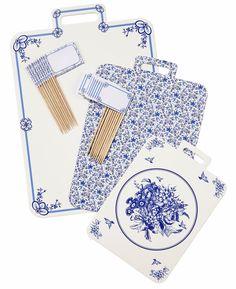 BLUE PARTY PORCELAIN CHEESE BOARD - Bonjour Fête