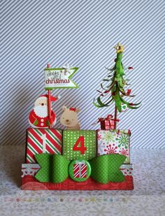 Doodlebug Design Inc Blog: Repurposed Blocks to Holiday Perpetual Calendar by Sherry