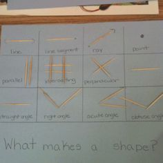 Teaching lines and angles before discussing shapes with 3rd grade.
