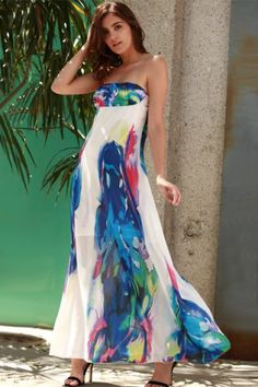 GET $50 NOW   Join RoseGal: Get YOUR $50 NOW!http://www.rosegal.com/maxi-dresses/chic-strapless-sleeveless-floral-print-276168.html?seid=8569013rg276168
