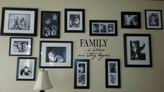 Black and White Photo wall. Took me two years, and my lovely handy husband, but its finally nice. #photowall