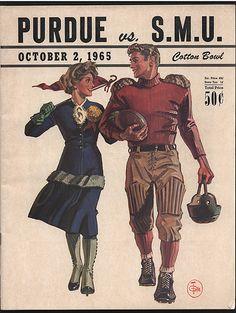 Purdue vs. SMU Program Cover (1965) | Flickr - Photo Sharing!