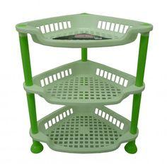 Incroyable Kitchen Fruit Storage   Durable Plastic Corner 3 Tier Vegetable Fruit Kitchen Bathroom Storage  .