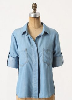 Washed Chambray Buttondown