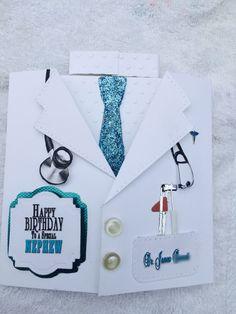 Birthday Card for Nephew Doctor; using Spellbinders die; masculine