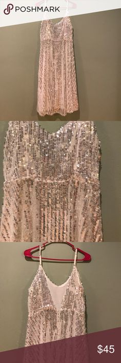 NWT white sequin dress Gorgeous NWT white sequin dress! Size 10 UK, fits like a US 4. Perfect condition! Asos Dresses
