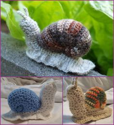 knitted snail pattern free - Google Search
