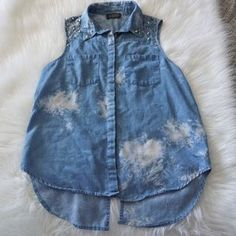 I just added this to my closet on Poshmark: ASTR Tie Dye Chambray Collared Top Studded Details. Price: $20 Size: S