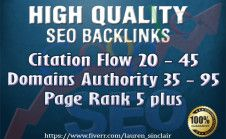 give 25 High citation flow and Domains Authority and High PR backlinks