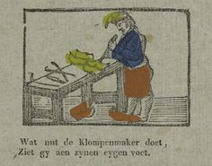 Klompenmaker. Uit: Borms 0425