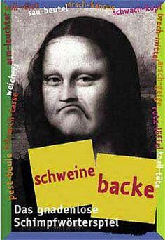 SCHWEINEBACKE - Das Schimpfwörter Memory - Kartenspiel