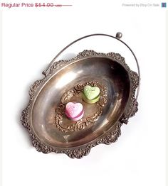 SALE 15% OFF Antique Silver Plated Oval Dish  by millyscollection