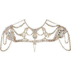 crystal cape necklace #wedding