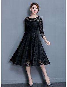 62e1f09a0 Mujer Línea A Vestido Noche Fiesta Cóctel Bonito Sofisticado