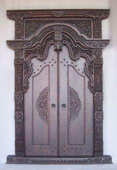 Balinese door carving