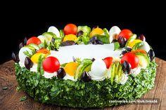 Výborný slaný dort. Dorty nemusí být pouze sladké, ale mohou být připraveny i naslano.