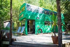 Big Green Bus unique glamping experience in Sussex