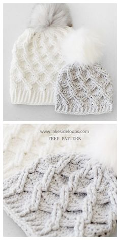 Cable stitching is a beautiful way of adding a texture to many products. You can use this technique to make a subtle ridged surface, or you can make a very pronounced design more like celtic… Beanie Pattern Free, Crochet Beanie Pattern, Chunky Crochet Hat, Crocheted Hats, Crochet Free Patterns, Girl Crochet Hat, Baby Knitting Patterns Free Newborn, Chunky Hat Pattern, Crochet Toddler Hat