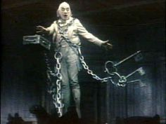 """Sir Alec Guinness as Jacob Marley in the musical """"Scrooge"""". One of the best Marleys ever."""