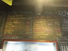 Draft beer list at Rapp Brewing Company in Seminole, FL. Visited again during spring training in March 2016.