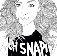 Dibujos Chica tumblr Girl TUMBLR