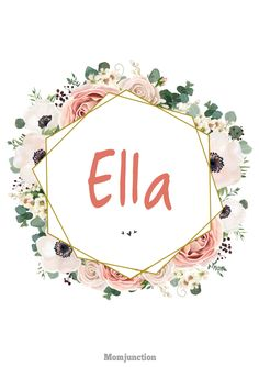 1389Baby #Girl #Names That Start With Letter E : This strong vowel conveys compassion, gentleness, love, and incredible sense of humor. If you give your daughter this initial, she'll be extremely social and will value friendships and relationships more than anything.