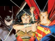 Batman, Wonder Woman, and Superman - Justice League - the core 3  by Alex Ross.