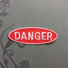 Danger Patch Warning Punk Individuality patches iron on patches Sew on patch