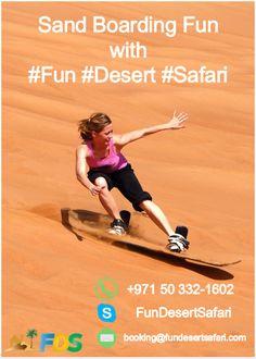 Morning Desert Safari Dubai - Sandboarding - Fun Desert Safari