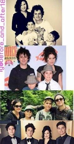 The Armstrongs family^^ Adrienne Armstrong, Billie Joe Armstrong, American Idiot, We Dont Talk, Blink 182, Day Of My Life, Green Day, Great Bands, Playing Guitar
