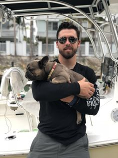 Rex the French Bulldog ❤️❤️ & Uncle Matt in the Florida Keys