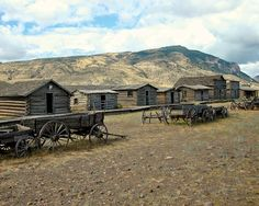 """Old Trail Town in Cody, Wyoming is home to the cabin of Butch Cassidy and the Sundance Kid and the gravesite of Jeremiah """"Livereating"""" Johnson. http://travelerfun.com/destinations/#/cody_wyoming"""