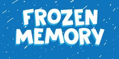 Designed by David Kerkhoff, Frozen Memory is a hand display font family. This typeface has three styles and was published by Hanoded. Plastic Canvas Tissue Boxes, Plastic Canvas Patterns, Disney Font Free, Disney Fonts, Winter Fonts, Frozen Font, Disney Silhouettes, Crochet Humor, Stock Art