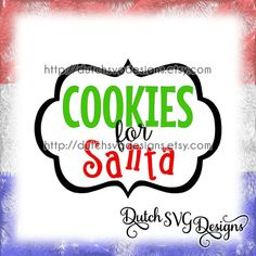 Cutting file Cookies for Santa with frame, in Jpg Png Studio3 SVG EPS DXF, for Cricut & Silhouette cameo curio, christmas xmas, plate, diy