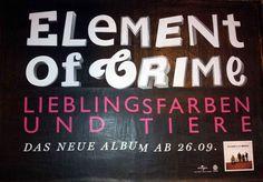 #Flächenplakatierung #Poster #Plakat #Element of Crime