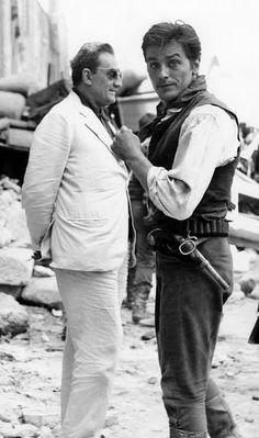 Alain Delon & Luchino Visconti on the set of Il Gattopardo (1963)