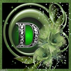 K-Floral green frames Letter Wall, Alphabet Letters, Green Flowers, Green Colors, Wild Irish Rose, Emerald Isle, My Favorite Color, Neon Signs, Lettering