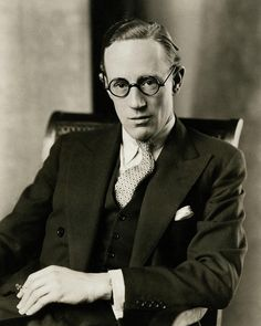Portrait Of Leslie Howard Photograph by Edward Steichen Edward Steichen, Leslie Howard, English Gentleman, Men Photoshoot, Wearing Glasses, Male Poses, Vanity Fair, Pretty Boys, Old Photos