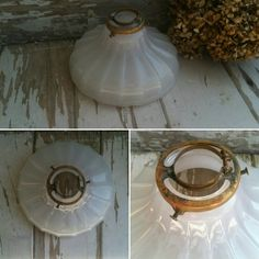 Check out this item in my Etsy shop https://www.etsy.com/listing/185538842/antique-milk-glass-pendant-shade-or