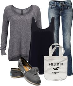 """Casually Comfortable"" My style all the way:)...I love everything but the hollister bag."
