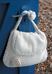 Free Knitting Pattern - Bags, Purses & Totes: Moss Stitch Bag