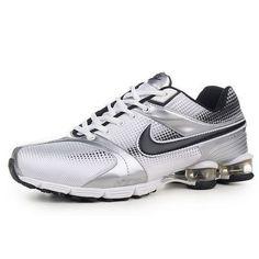 Nike Shox R4 Grey/Black Air Cushion Men Shoes 1010 For $56.80 Go To:  http://www.cheapnikeshoxmart.com